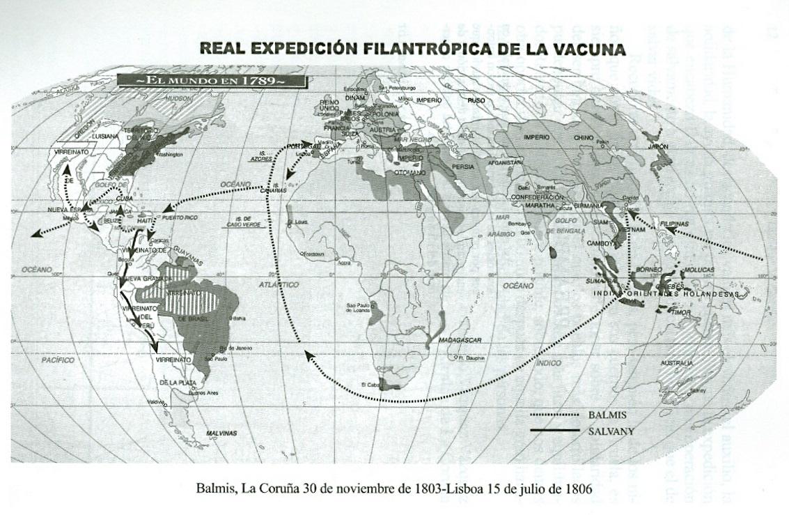 Resultado de imagen de mapa expedición balmis